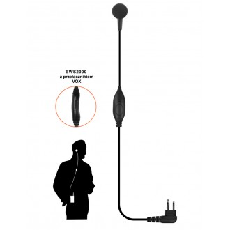 Mikrofonosłuchawka Voxtech BWS2000  K1 - Kenwood+C