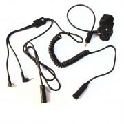 BHS-300U okablowanie do radiotelefonów PMR/CB (PTT+kable)