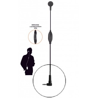 BWS2000 M2 VOX-mikrofonosłuchawka do HYT TC320/ Motorola TLKR/XT