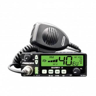 Radiotelefon CB PRESIDENT Barry II 12/24V ASC, VOX, USB