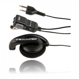Mikrofonosłuchawka MIDLAND MA24-L na ucho+PTT/VOX